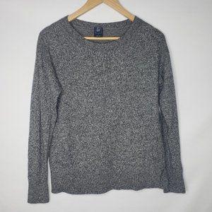GAP Gray Heather Crew Neck Sweater